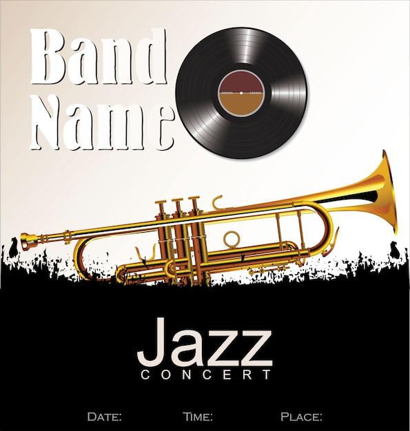 Fond de concert de jazz Vecteur Premium