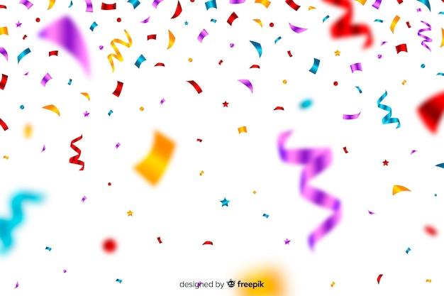 Fond De Confettis Coloré Réaliste Vecteur gratuit