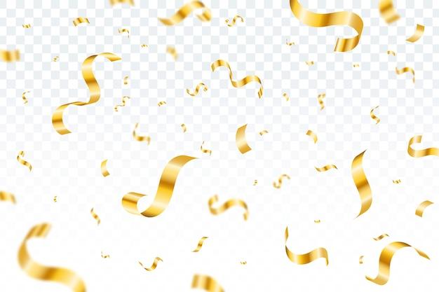 Fond De Confettis Design Plat Vecteur gratuit