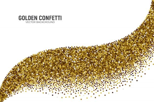 Fond de confettis dorés épars Vecteur Premium