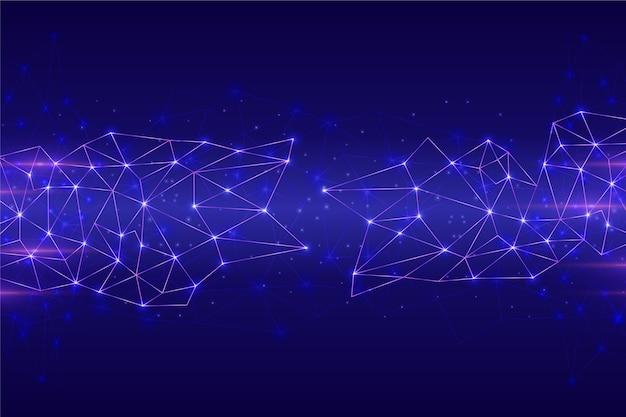 Fond De Connexion De Circuit De Réseau Futuriste Vecteur gratuit