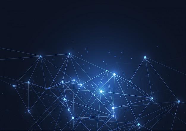 Fond de connexion internet Vecteur Premium