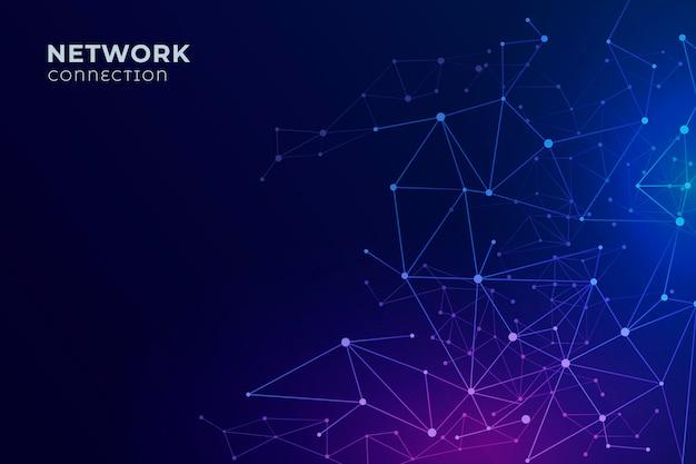 Fond De Connexion Réseau Dégradé Vecteur gratuit