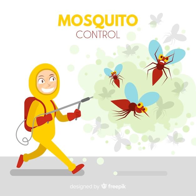 Fond De Contrôle Des Moustiques Vecteur gratuit