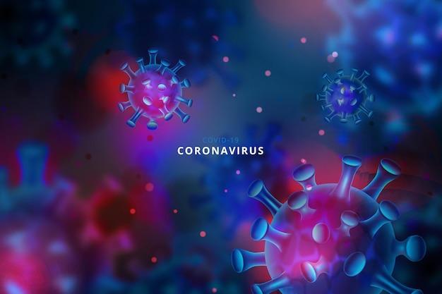 Fond De Coronavirus Réaliste Vecteur gratuit