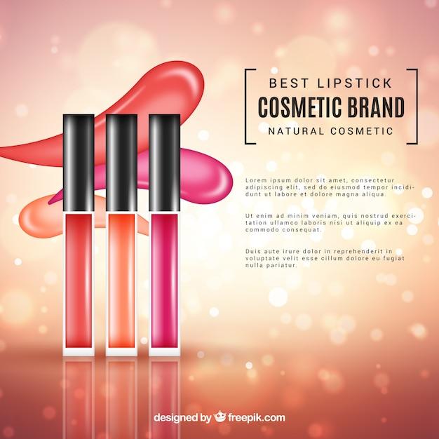 Fond de cosmétiques avec un style réaliste Vecteur gratuit
