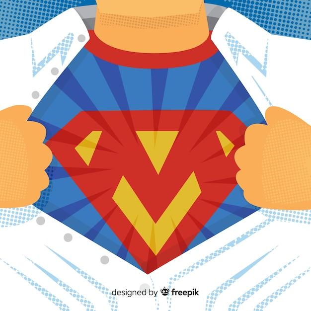 Fond de costume de super-héros Vecteur gratuit