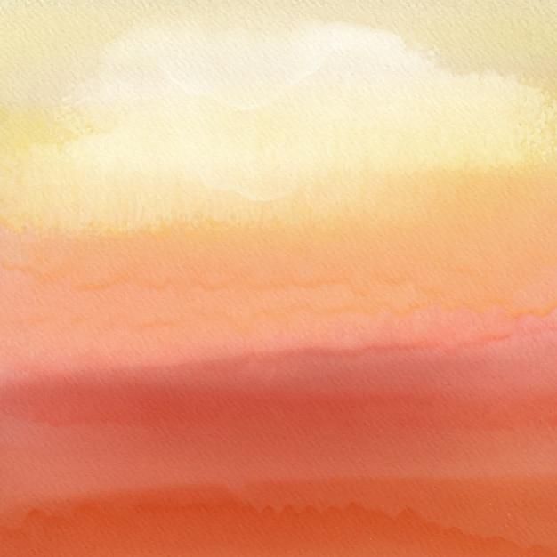 Fond de coucher de soleil aquarelle Vecteur gratuit