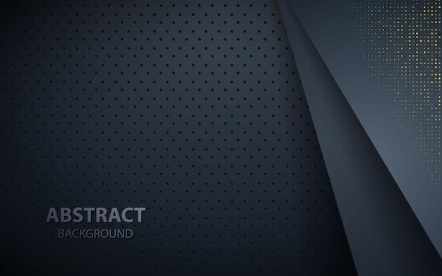 Fond de couches de chevauchement sombre avec des paillettes dorées Vecteur Premium