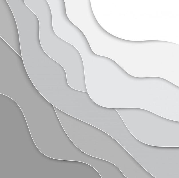 Fond de couches de papier 3d Vecteur Premium