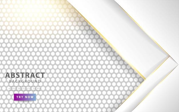 Fond de couches de superposition blanc moderne. Vecteur Premium