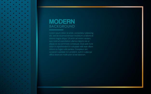 Fond de couches texturées bleu luxe Vecteur Premium