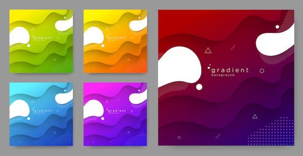 Fond de couleur dégradé abstrait Vecteur Premium