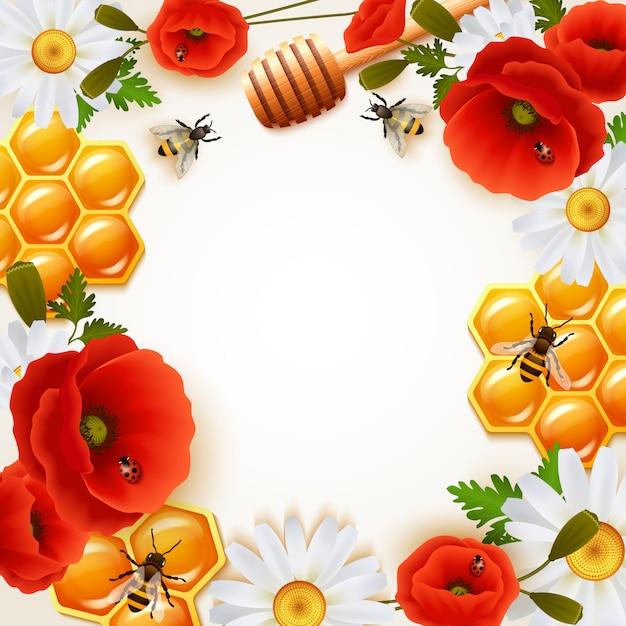 Fond de couleur miel Vecteur gratuit