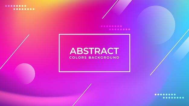 Fond de couleurs abstraites Vecteur Premium