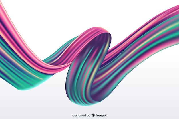 Fond de coup de pinceau holographique Vecteur gratuit
