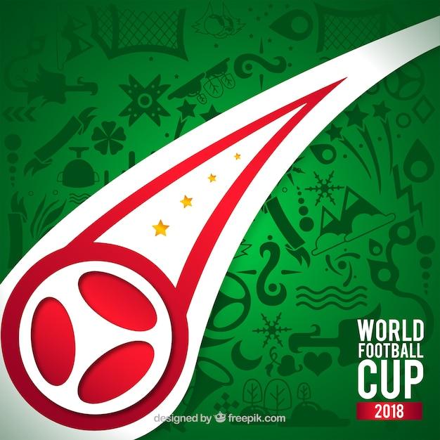 Fond de coupe du monde de football avec motif Vecteur gratuit