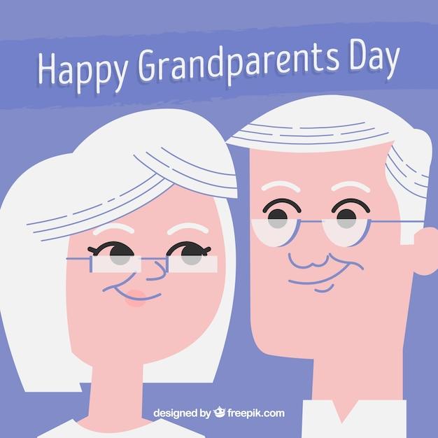 Le Fond Des Couples De Grands Parents En Style Vintage Vecteur Premium