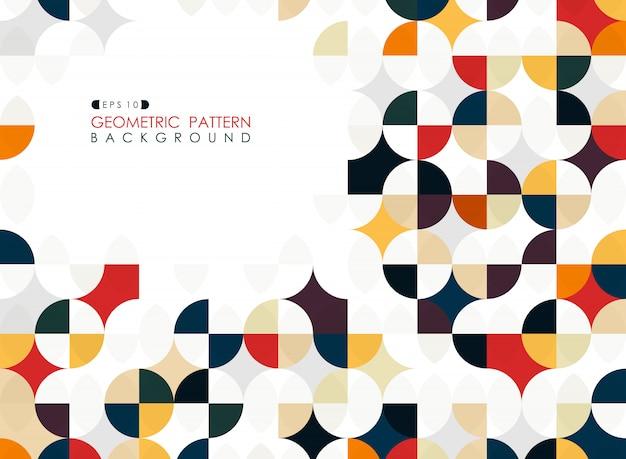 Fond de couverture business cercle géométrique tendance carré Vecteur Premium