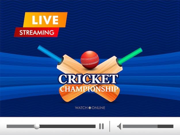 Fond de cricket concept. Vecteur Premium