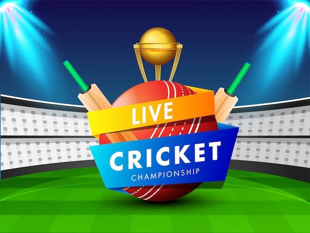 Fond de cricket. Vecteur Premium