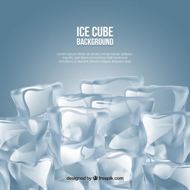 Fond de cube de glace dans un style réaliste Vecteur gratuit
