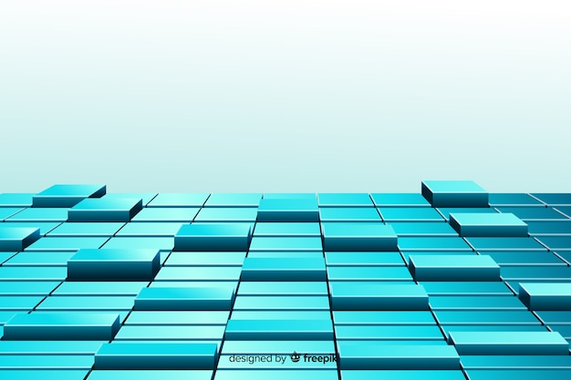 Fond De Cubes Réalistes Vecteur gratuit