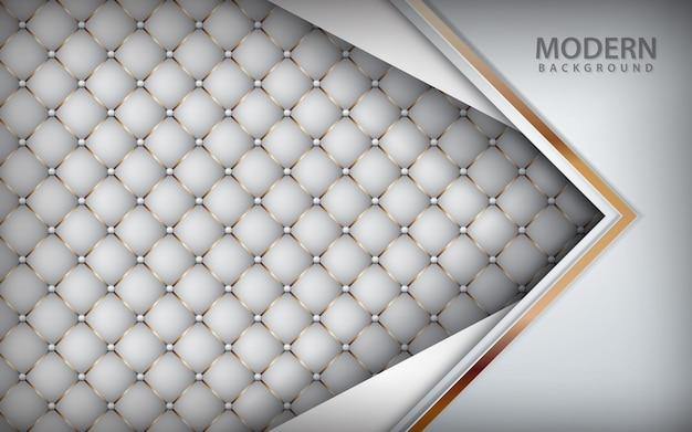 Fond en cuir de luxe blanc Vecteur Premium