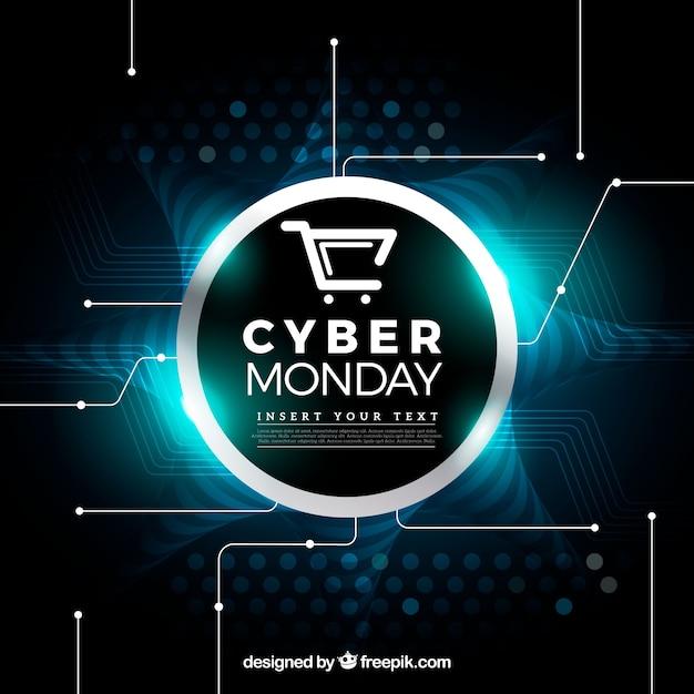 Fond de cyber lundi brillant Vecteur gratuit