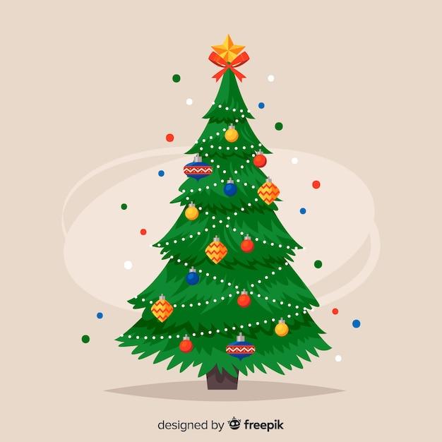 Fond d'arbre de Noël Vecteur gratuit