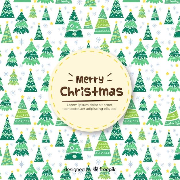 Fond d'arbres de Noël Vecteur gratuit