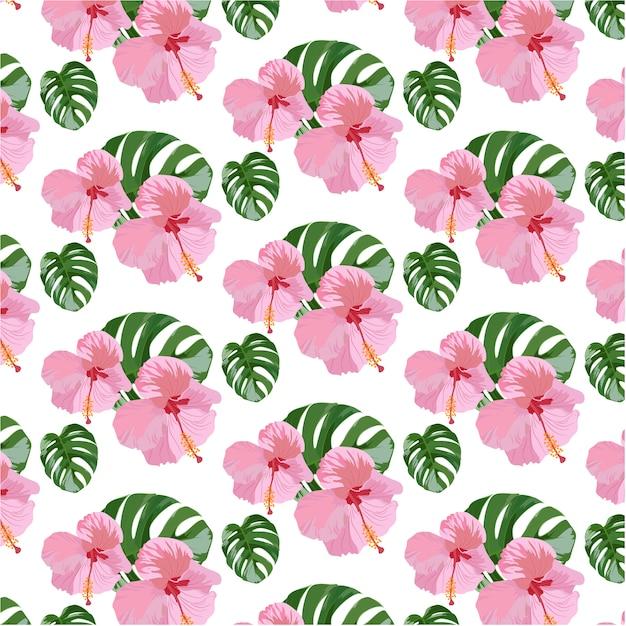 fond d 39 cran des fleurs tropicales t l charger des vecteurs gratuitement. Black Bedroom Furniture Sets. Home Design Ideas