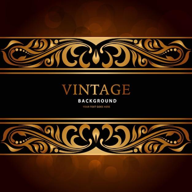 fond d'or vintage de luxe Vecteur gratuit