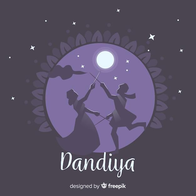 Fond de dandiya Vecteur gratuit