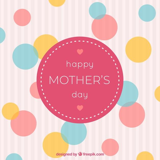 Fond de bonne fête des mères avec la famille Vecteur gratuit