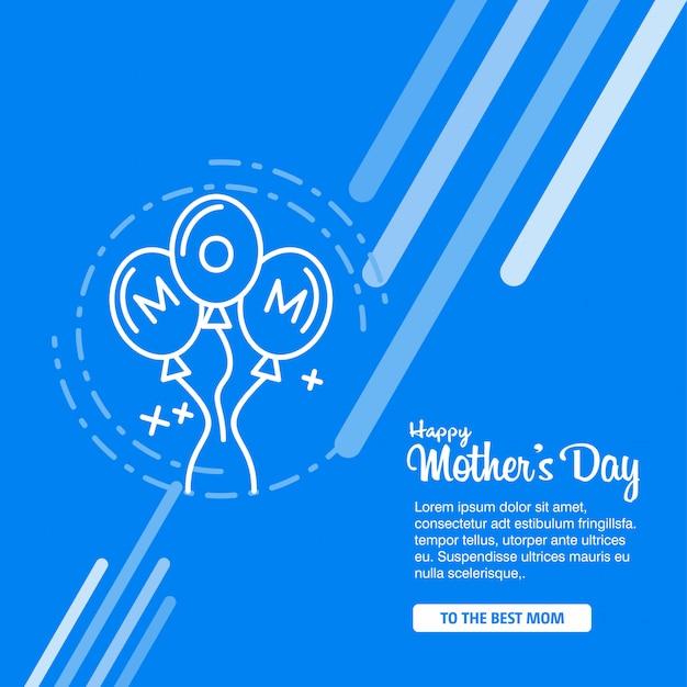 Fond de calligraphie de bonne fête des mères Vecteur gratuit
