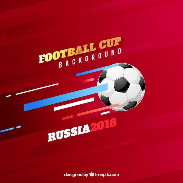 Fond de coupe de football avec ballon Vecteur gratuit