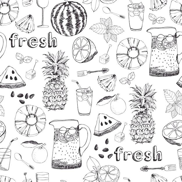 Fond de fraîcheur de l'été Vecteur gratuit