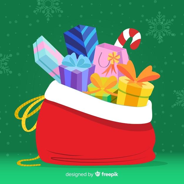 Fond de jouet de Noël Vecteur gratuit