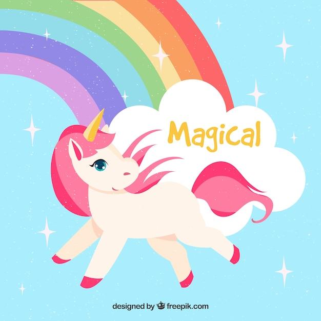 Fond de licorne magique avec arc en ciel t l charger des - Image arc en ciel gratuite ...