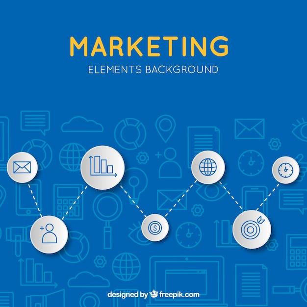 Fond de marketing moderne bleu Vecteur gratuit