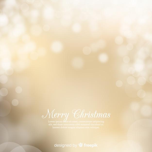 Fond de Noël doré Vecteur gratuit