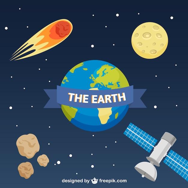 fond de page Web avec la planète Terre Vecteur gratuit