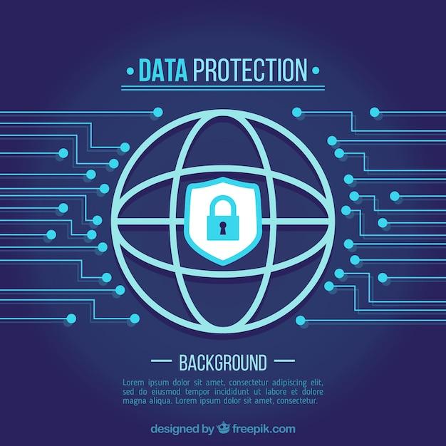 Fond de protection des données Vecteur gratuit