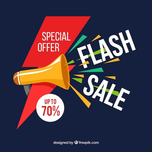 Fond de vente flash dans un style plat | Télécharger des ...