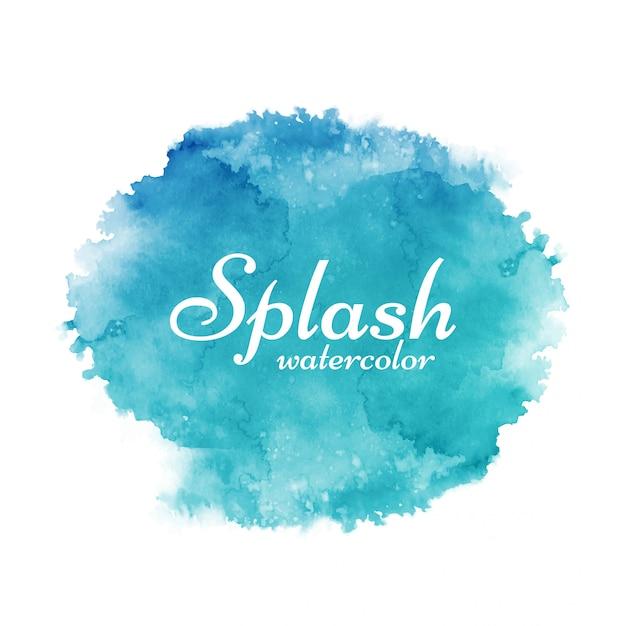 Fond Décoratif Aquarelle Splash Coloré Vecteur gratuit