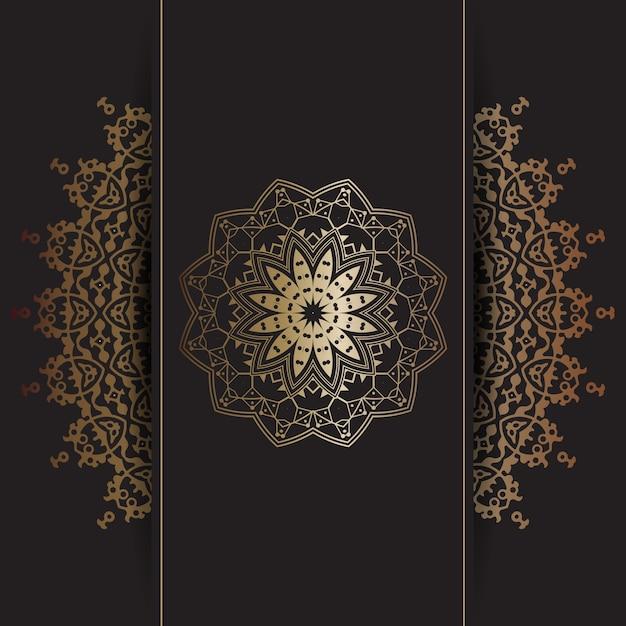 Fond décoratif avec motif mandala doré | Télécharger des ...