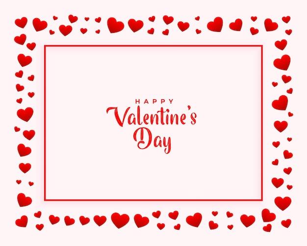Fond Décoratif De Cadre De Coeurs Saint Valentin Vecteur gratuit