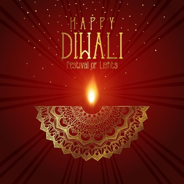 Fond Décoratif Diwali Vecteur gratuit