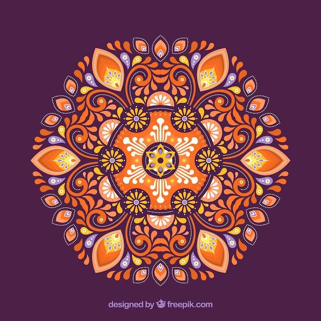 Fond décoratif mandala Vecteur gratuit